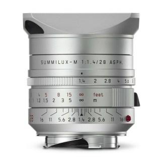 Leica M Summilux 28mm silver para face