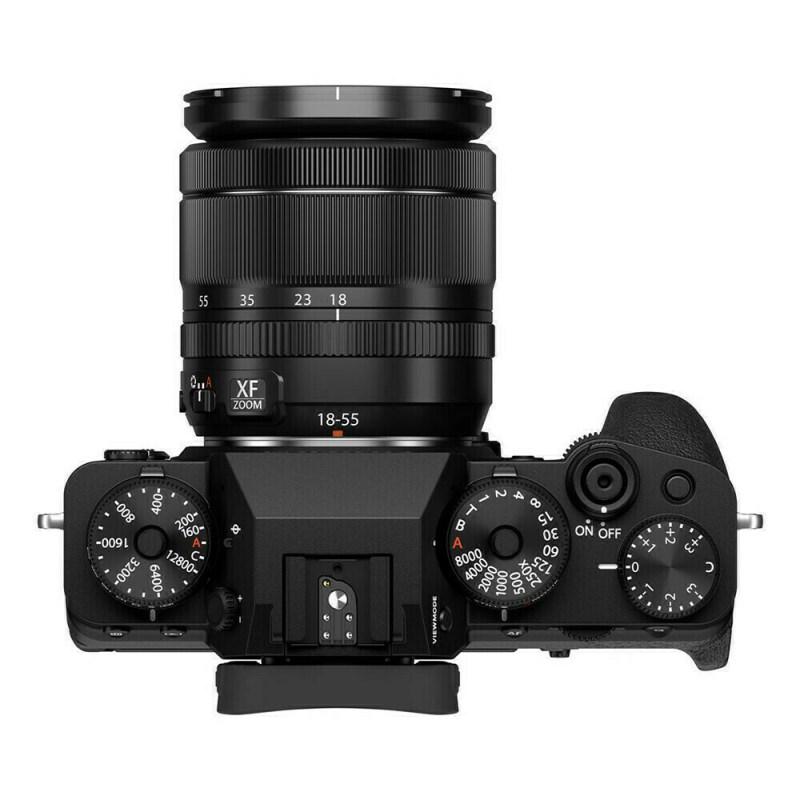 Fujifilm X-T4 + XF 18-55 - Noir - dessus