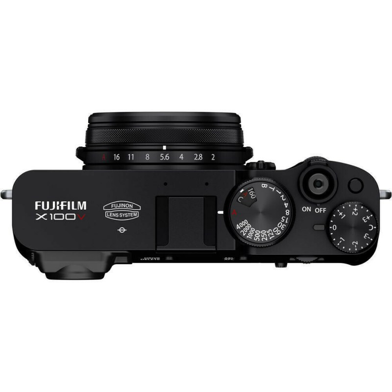 Fujifilm X100V - Noir - dessus