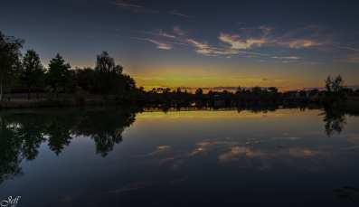 Coucher de soleil sur Saint Sylvain d'Anjou (Maine et Loire)14
