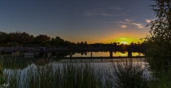 Coucher de soleil sur Saint Sylvain d'Anjou (Maine et Loire)9