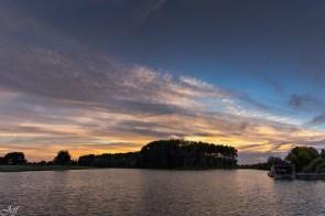 Ecouflant coucher de soleil sur la sarthe 3