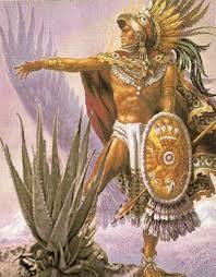 Amérindien derrière un Aloès