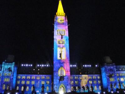 Projections sur le Parlement d'Ottawa