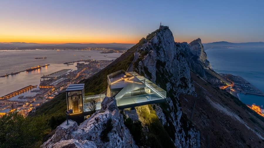 La terrazza panoramica costruita sulla Rocca di Gibilterra