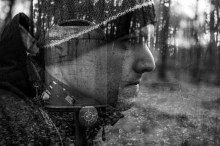 Mehrfachbelichtung im Wald
