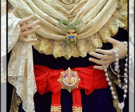 María Stma. de la Amargura ataviada para Cristo Rey