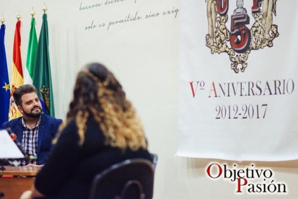 Presentación Logo V Aniversario Objetivo Pasión y nombramiento Chica Ramos