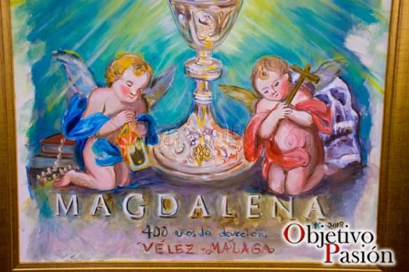 Detalles del cartel 400 aniversario de Sta María Magdalena