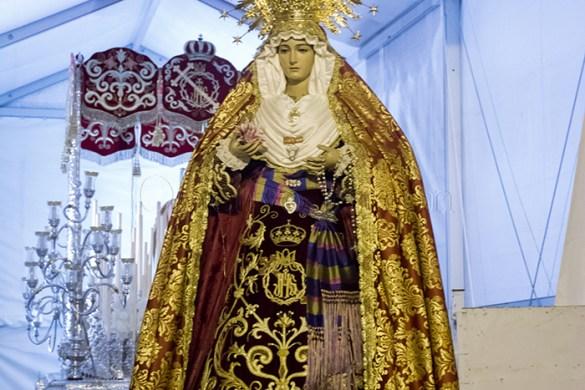 Traslado Virgen de la Amargura antes de su procesión extraordinaria