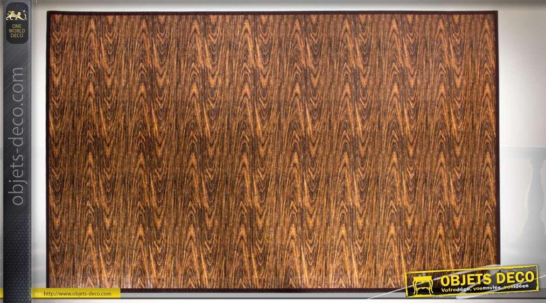 tapis de salon en bambou coloris fauve et feu 180 x 120 cm