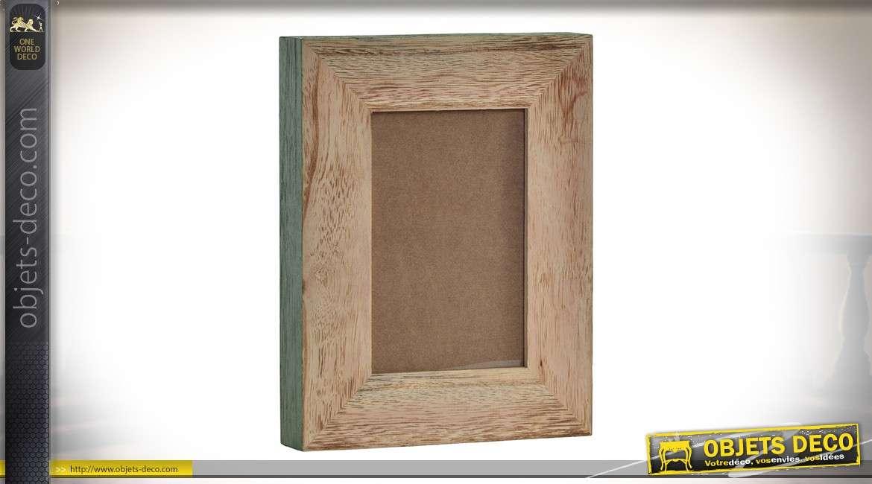 cadre photos a encadrement large et profond en bois et verre pour photo 10 x 15 cm