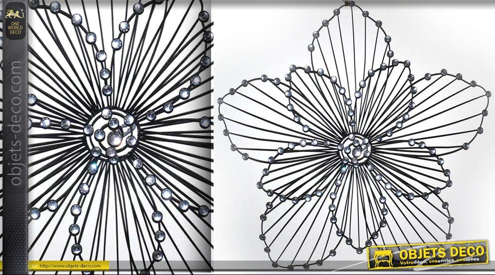 deco murale d une grande fleur stylisee en metal