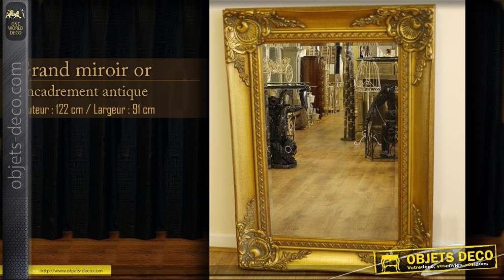 grand miroir dore de style ancien