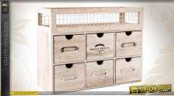 mini meuble a 6 tiroirs etagere pour la cuisine ou l atelier