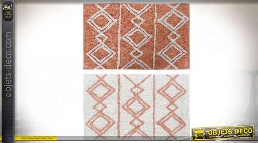 grand tapis 230 x 160 en coton lirette