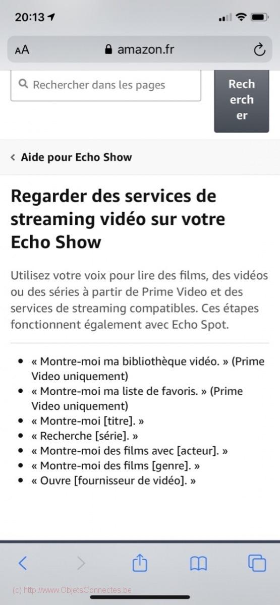 Amazon Alexa Echo Show - Streaming vidéo