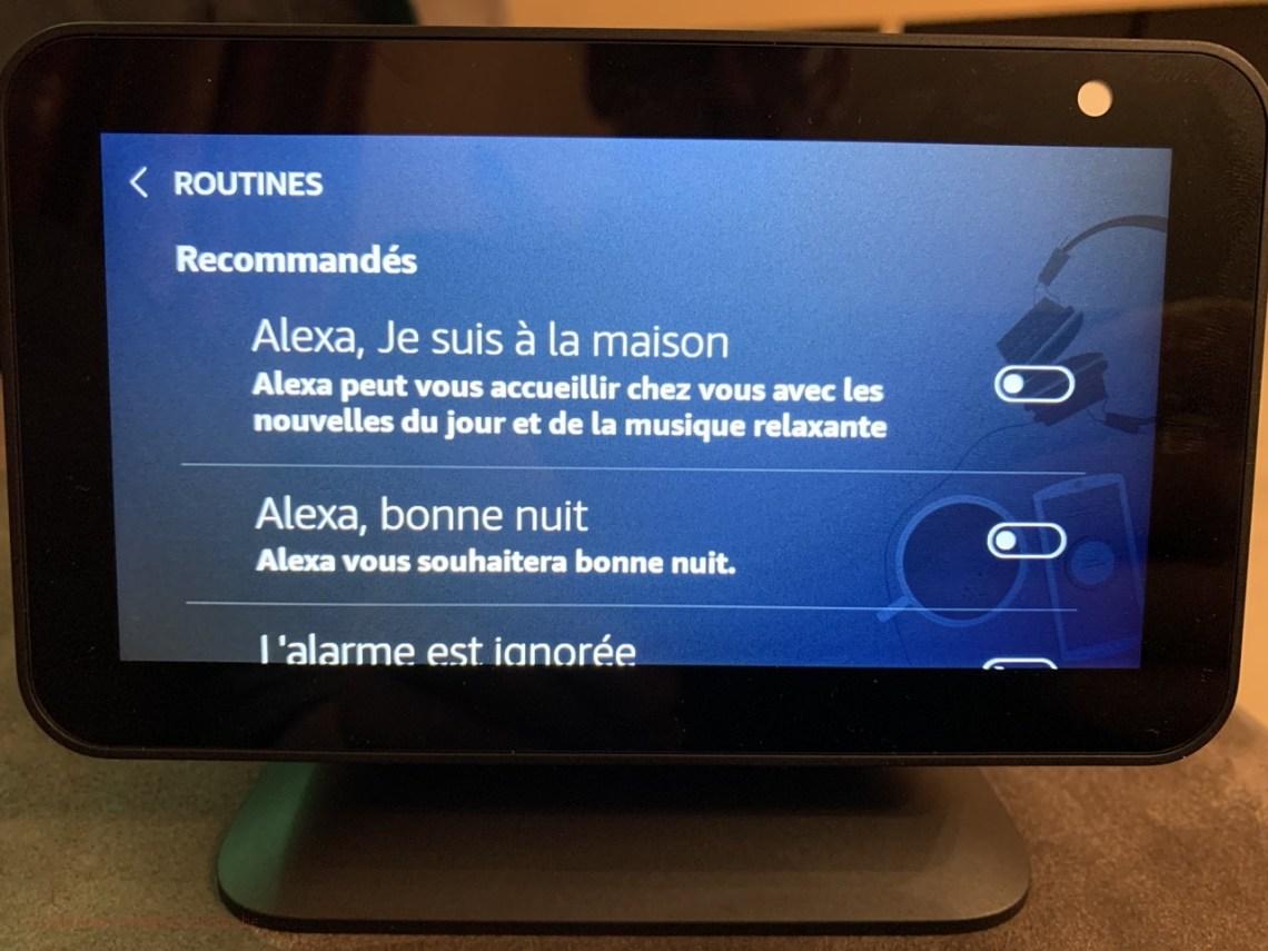 Amazon Alexa Echo Show - Routines