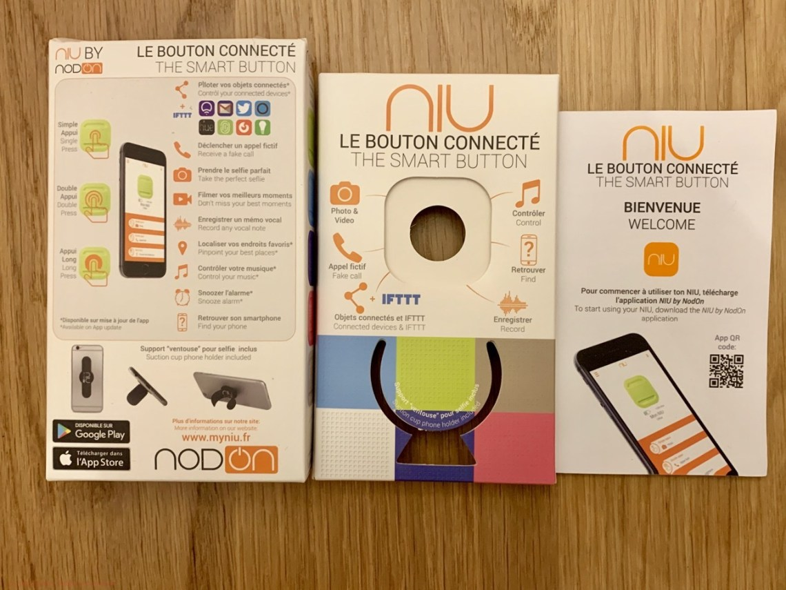 Bouton connecté Niu - Le package