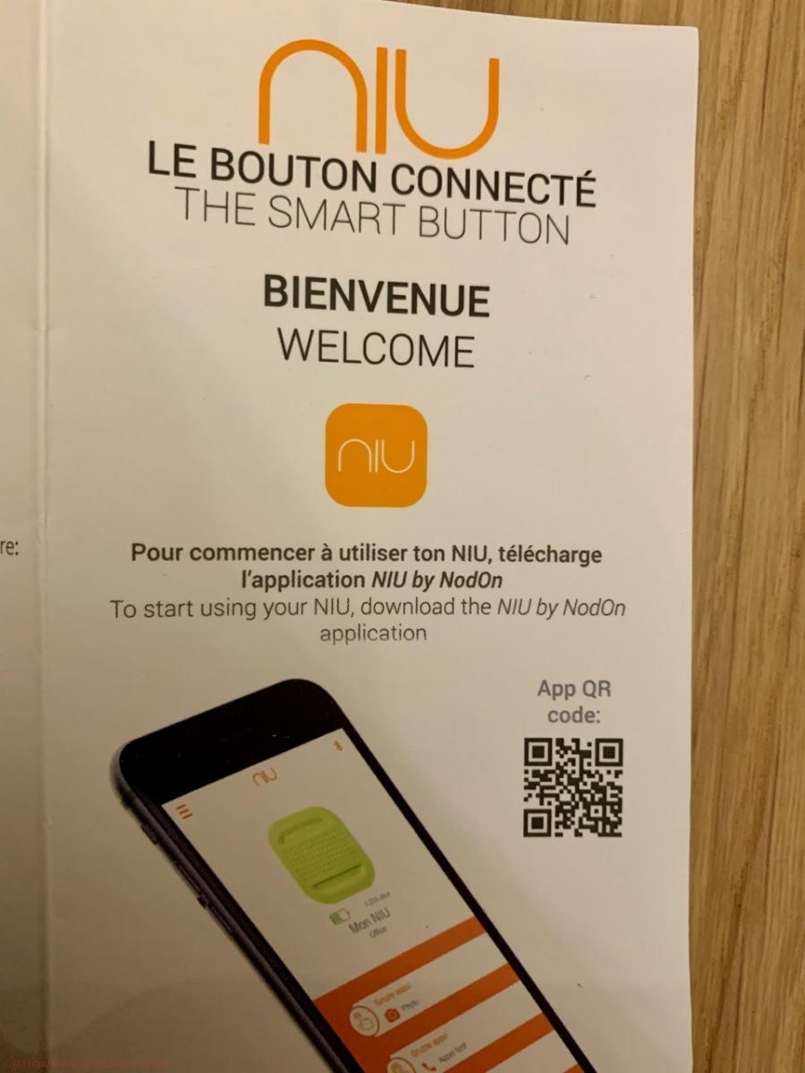 Bouton connecté Niu - L'application