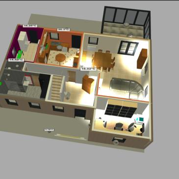 Design 3D (de Sweethome 3D) dans Jeedom