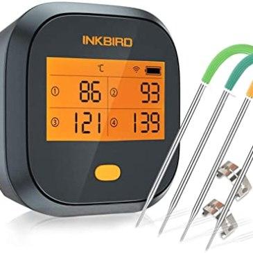 Thermomètre de cuisson Wifi Inkbird IBBQ-4T pour barbecue ou fou