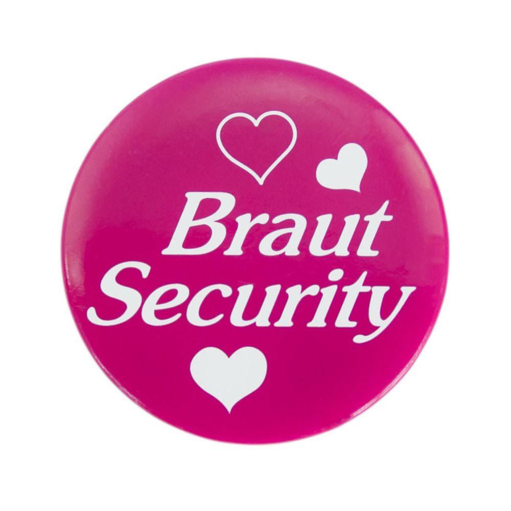 Button JGA Junggesellinnenabschied Hochzeit  Braut Security