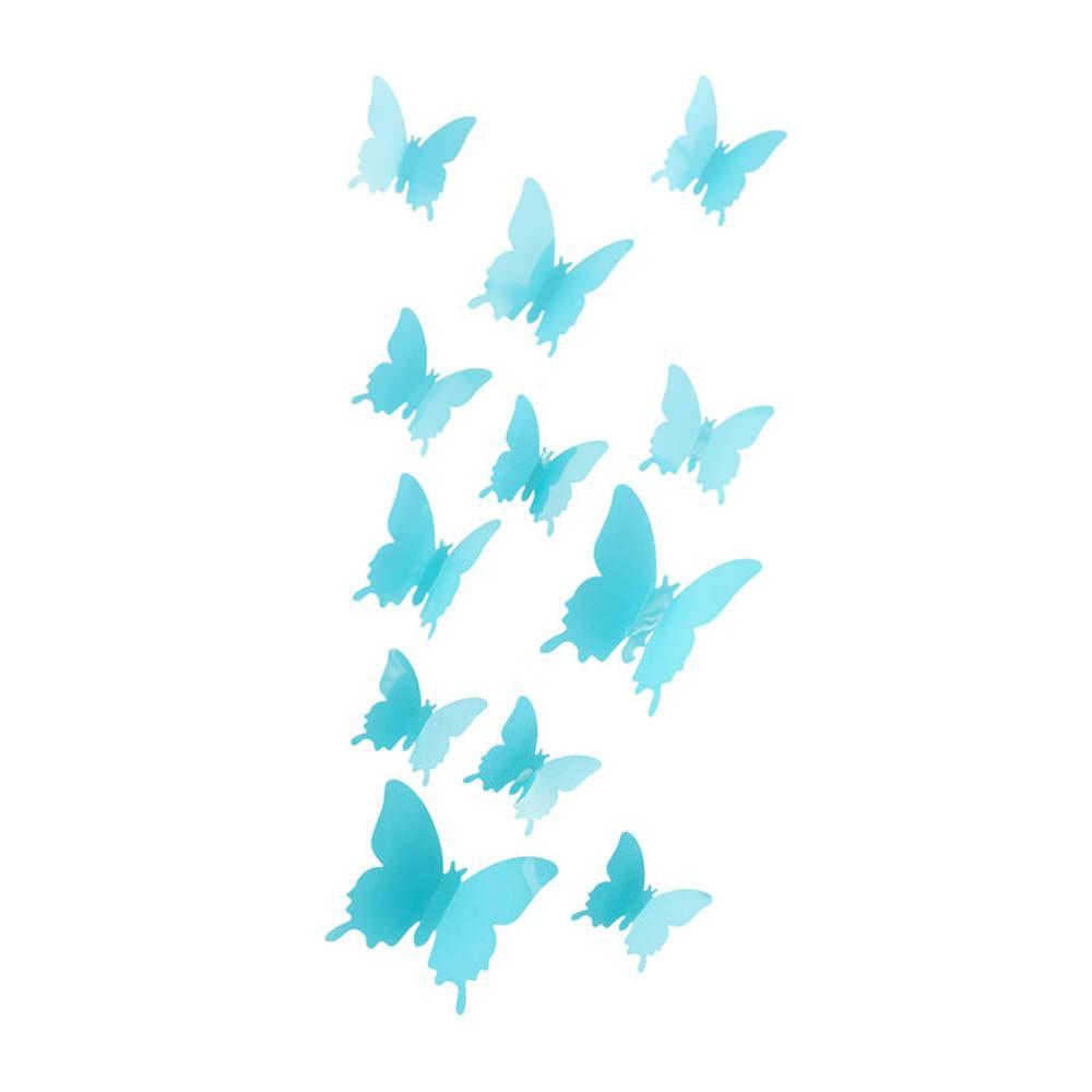 3D Schmetterlinge 12er Set Wandtattoo Wandsticker Wanddeko  trkis
