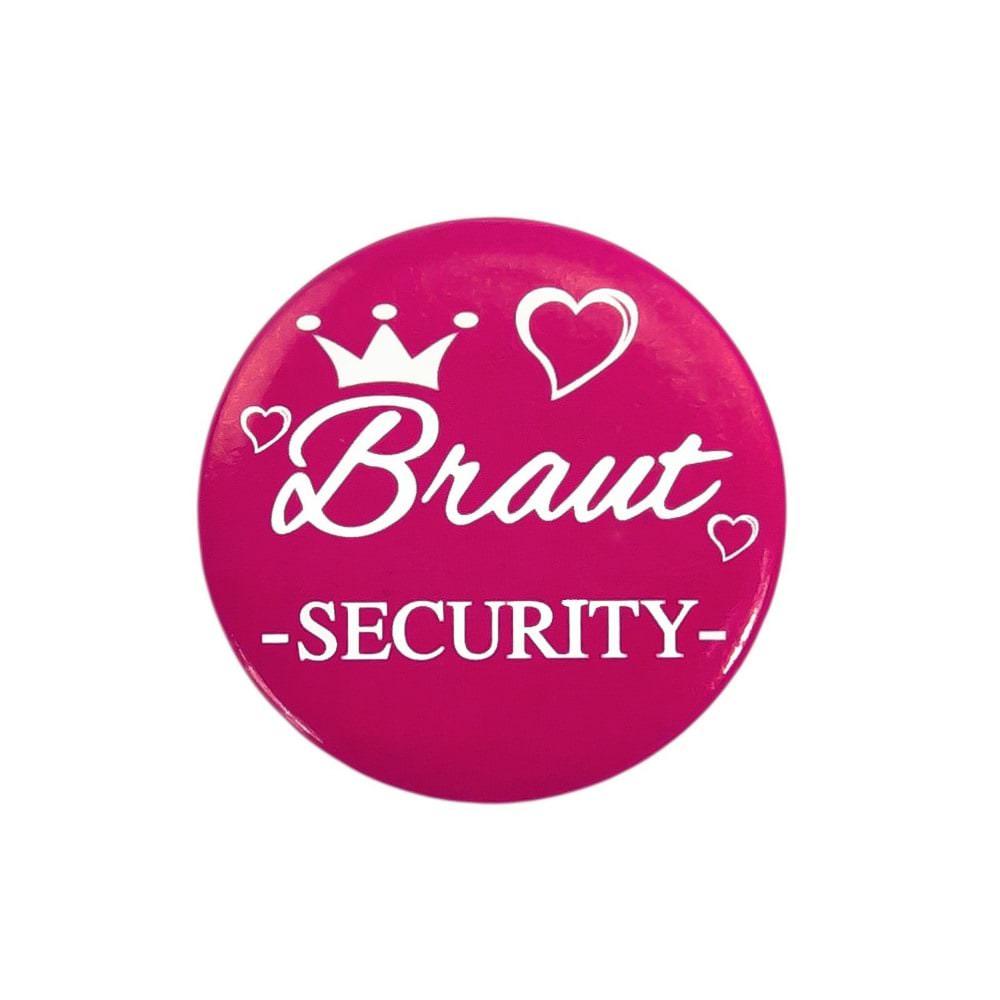 Button JGA Junggesellinnenabschied Hochzeit  Braut Security 2