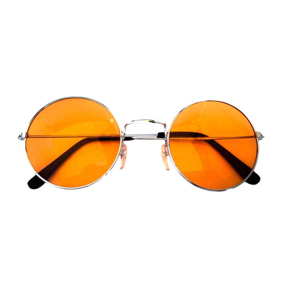 John Lennon Hippie Brille Sonnenbrille Herren Damen 60er 70er  orange