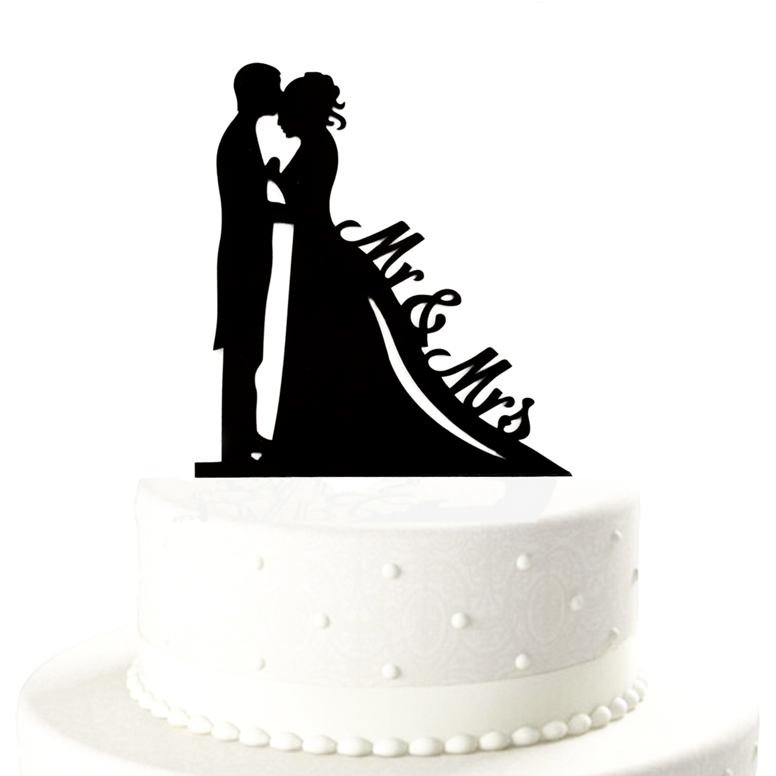 Brautpaar Mr  Mrs Hochzeitstorte Topper Acryl