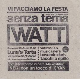 La festa di WATT