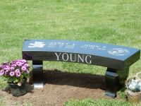 Our portfolio of granite memorial benches and monu