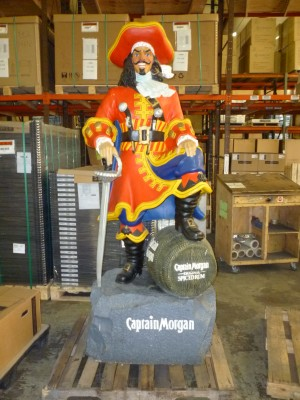 Captain Morgan Advertising Statue  Obnoxious Antiques