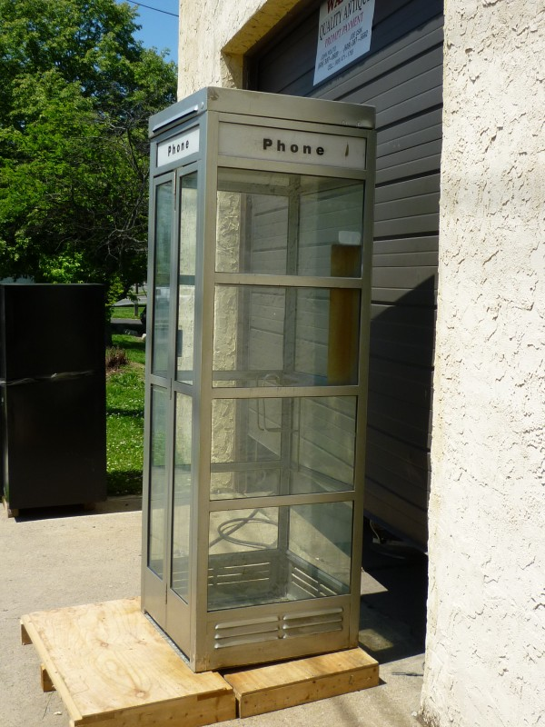 1960s Metal Phone Booth Obnoxious Antiques