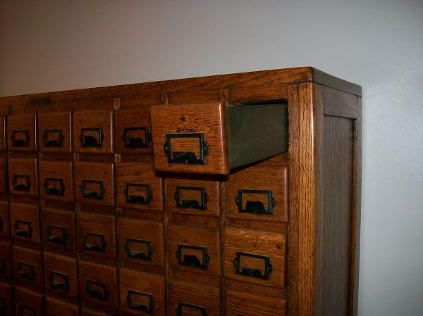 Antique Oak 100 Drawer Hardware Store Cabinet  Obnoxious