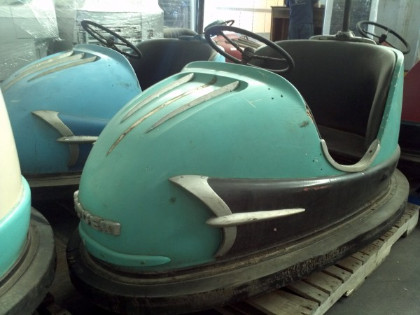 1959 Amusement Park Dodgem Bumper Cars  Obnoxious Antiques