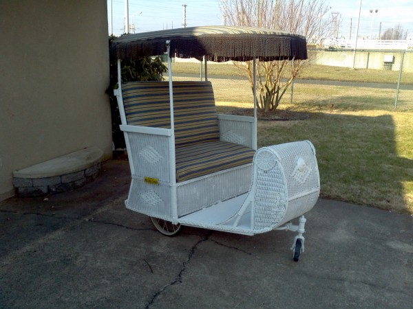 Atlantic City Boardwalk Wicker Push Cart  Obnoxious Antiques
