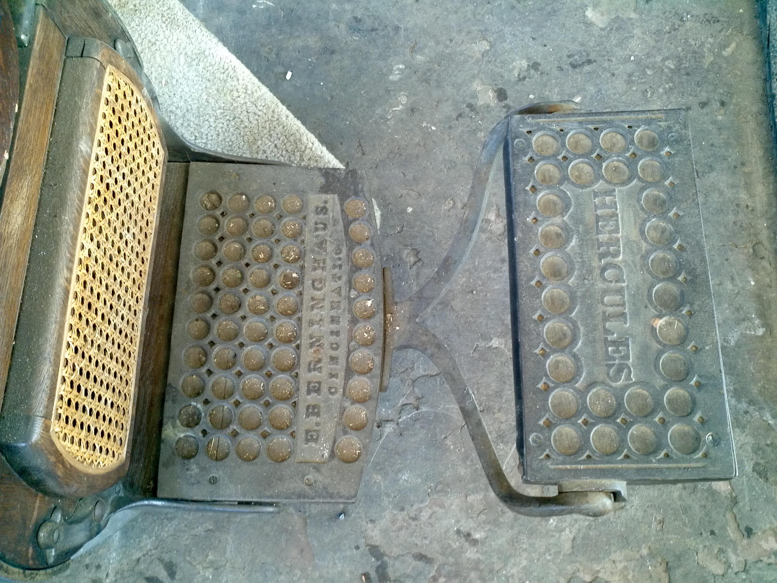 antique wood barber chair storage bean bag 1901berninghaus wooden shop obnoxious antiques 1