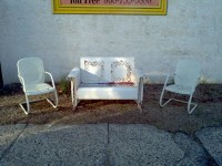 Mid-Century Metal Outdoor Furniture  Obnoxious Antiques