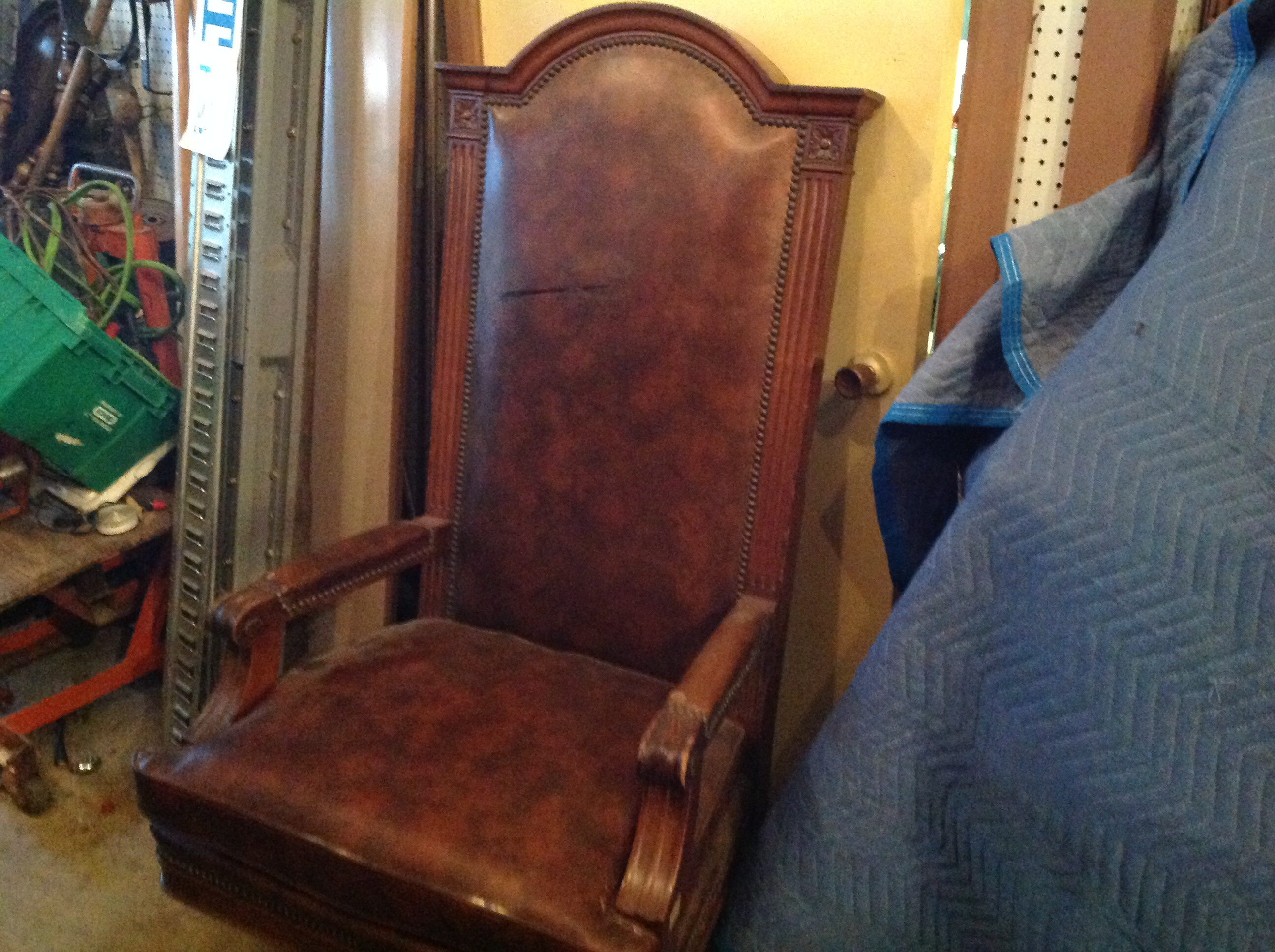 Vintage Marble  Shattuck Courtroom Judges Chair