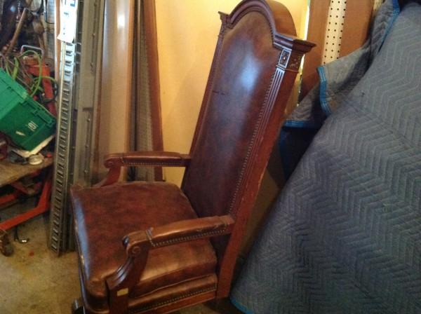 unique office chair ikea folding jeff vintage marble & shattuck courtroom judge's « obnoxious antiques