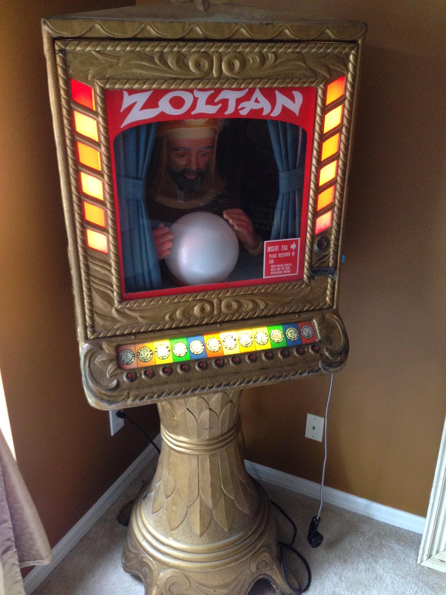 Zoltan Penny Arcade Fortune Teller Machine  Obnoxious