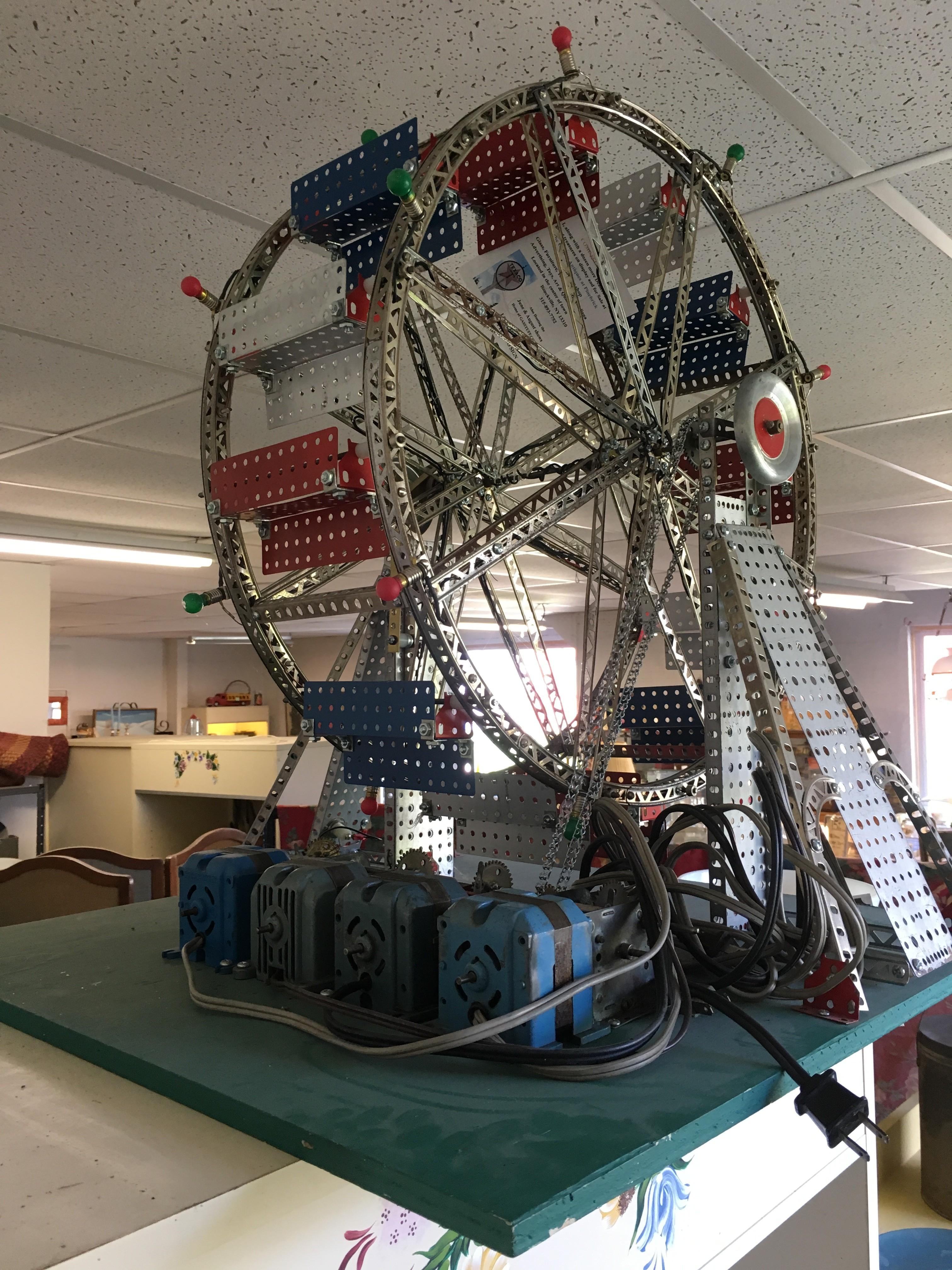 Vintage Toy Store Animated Erector Set Ferris Wheel