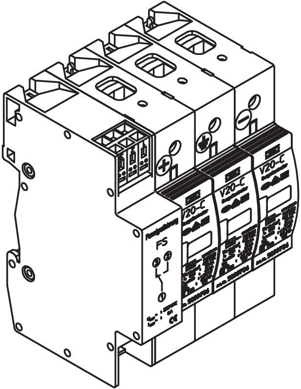 PV Überspannungsschutz V20, 1000V DC mit