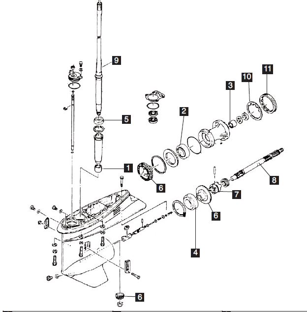 New Aftermarket Yamaha 75-100 HP 4 Stroke Lower Unit