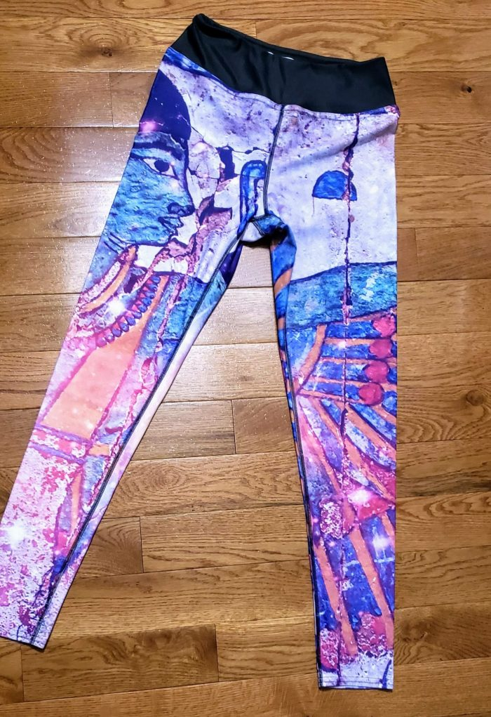 Kushite Dynasty Pattern sports leggings