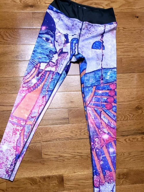 Kushite Dynasty Pattern sports leggings