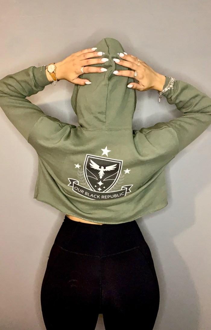 OBR-Crop-top-hoodie-green-white