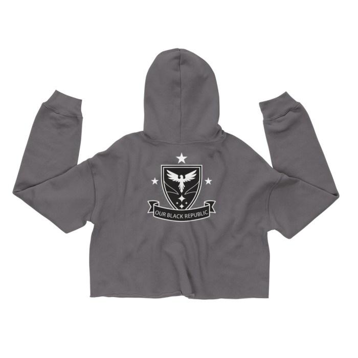 OBR Crop Hoodie - Storm crop top hoodie